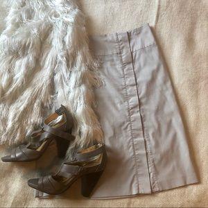 ZERO silver grey lightweight A-line pencil skirt